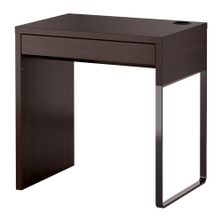 MICKE Escritorio 73x50 cm con cajón negro marrón