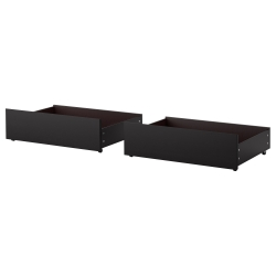 2 x MALM Bed storage box Twin/Full