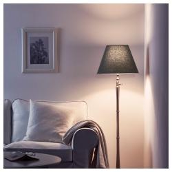 OLLSTA Pantalla para lámpara gris 42 cm