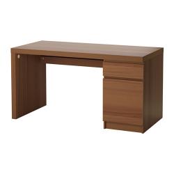 MALM Escritorio 140x65 cm con cajón y almacenamiento marrón