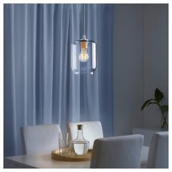 KLOVAN Pantalla para lámpara de techo vidrio 15 cm