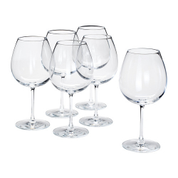 STORSINT Juego de 6 copas de vino tinto, cristalino, 67cl