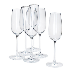 STORSINT Set of 6 champagne glasses, 7oz