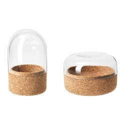 SAMMANHANG Campana vidrio con base jgo 2