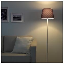 RYRA Pantalla para lámpara cuadros rojo/azul 33 cm
