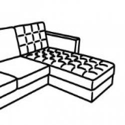 MORABO Armazón módulo chaise longue