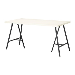LINNMON/LERBERG Mesa de escritorio 150x75 cm blanco/negro