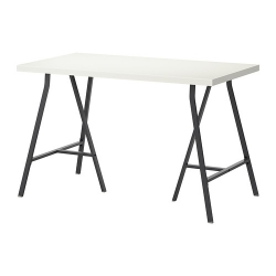 LINNMON/LERBERG Mesa deescritorio 120x60 cm blanco/negro