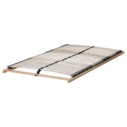 BRIMNES Cama 140, estructura con almacenaje y somier de láminas reforzadas LÖNSET