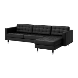 LANDSKRONA Sofá de 4 plazas con diván