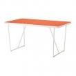 BACKARYD Mesa 150x78 cm blanco/naranja
