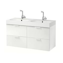 GODMORGON Armario para lavamanos+4 cajones