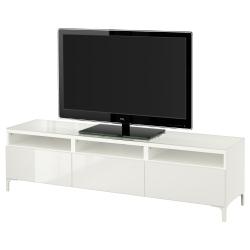 BESTÅ Banco para TV con cajones