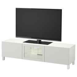 BESTÅ Banco para TV+gavetas y puerta