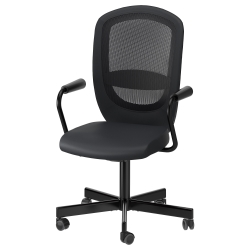 FLINTAN/NOMINELL Swivel chair with armrests
