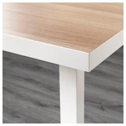 LINNMON/GODVIN Mesa de escritorio 120x60 cm blanco efecto roble