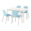EKEDALEN/LEIFARNE Mesa con 4 sillas