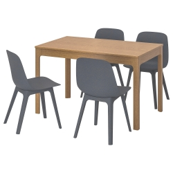 EKEDALEN/ODGER Mesa con 4 sillas