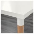 LINNMON/HILVER Mesa de escritorio 150x75 cm con cajonera sobremesa blanco/bambú