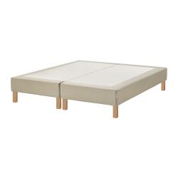 ESPEVÄR Base para colchón 160 con patas BURFJORD 20 cm, funda beige