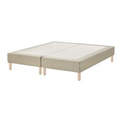 ESPEVÄR Base para colchón 180 con patas BÅTSFJORD 20cm, funda beige