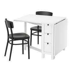 NORDEN/IDOLF Mesa y dos sillas