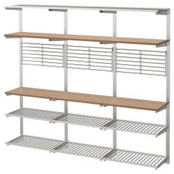 KUNGSFORS Riel montaje+estante/pared rejilla