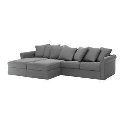GRÖNLID Sofá 4 plazas con divanes