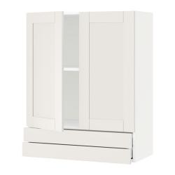 METOD/MAXIMERA Armario de pared puertas y cajones