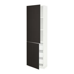 METOD/MAXIMERA Armario alto 2 puertas y 3 cajones