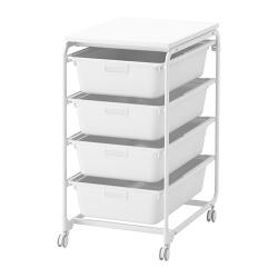 ALGOT Armazón/4 cajas/estante superior
