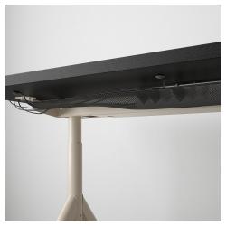 IDÅSEN Escritorio profesional 160x80 cm negro/beige