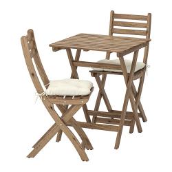 ASKHOLMEN Mesa+2 sillas, exterior