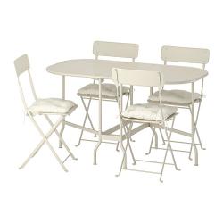 SALTHOLMEN Mesa+4 sillas plegables, exterior