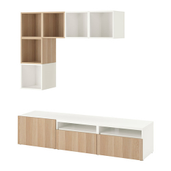 BESTÅ/EKET Mueble TV con almacenaje + armario