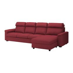 LIDHULT Sofá 4 plazas con diván
