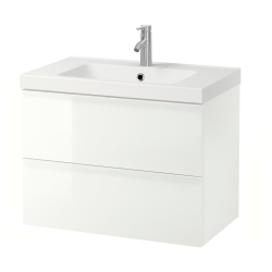 GODMORGON/ODENSVIK Lavamanos con armario 2 gavetas