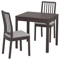 EKEDALEN/EKEDALEN Mesa y dos sillas