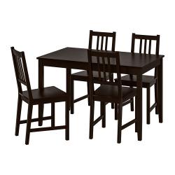 LERHAMN/STEFAN Mesa con 4 sillas