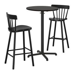 STENSELE/NORRARYD Mesa de bar y 2 taburetes de bar
