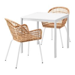 MELLTORP/NILSOVE Mesa y 2 sillas
