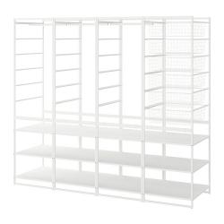 JONAXEL Estructura organización 198x51x173 cm con cestos, barras y estantes
