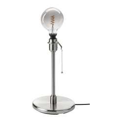 ROLLSBO/KRYSSMAST Pie lámpara mesa+bomb