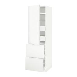 METOD/MAXIMERA Armario alto con puerta y 4 cajones