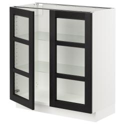 SEKTION Armario bajo+2 puertas de vidrio