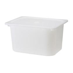 TROFAST Caja con tapa blanco