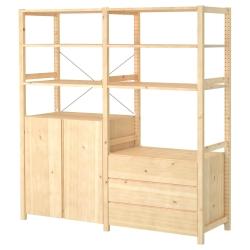 IVAR 2 secciones/estantes/clóset/gavetero