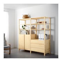 IVAR 2 secciones/estantes/armario/cómoda
