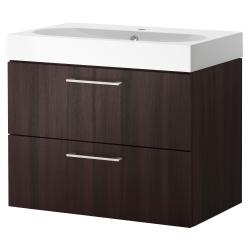 GODMORGON/BRÅVIKEN Wash-stand with 2 drawers