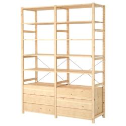 IVAR 2 secciones/estantes/gavetero